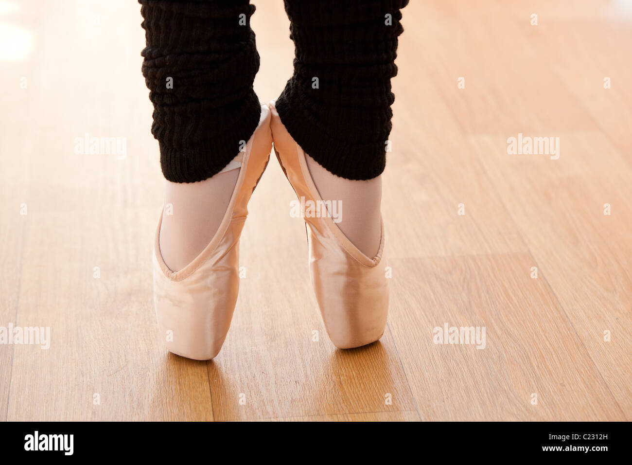 Close-up of a talented ballerina on tiptoe - Stock Image