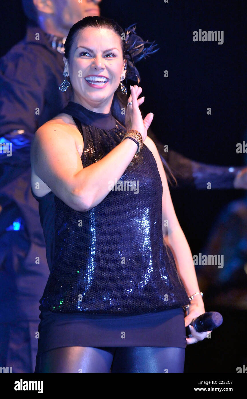 Latin Singer Olga Tanon Performing At The Seminole Hard Rock Hotel And Casino