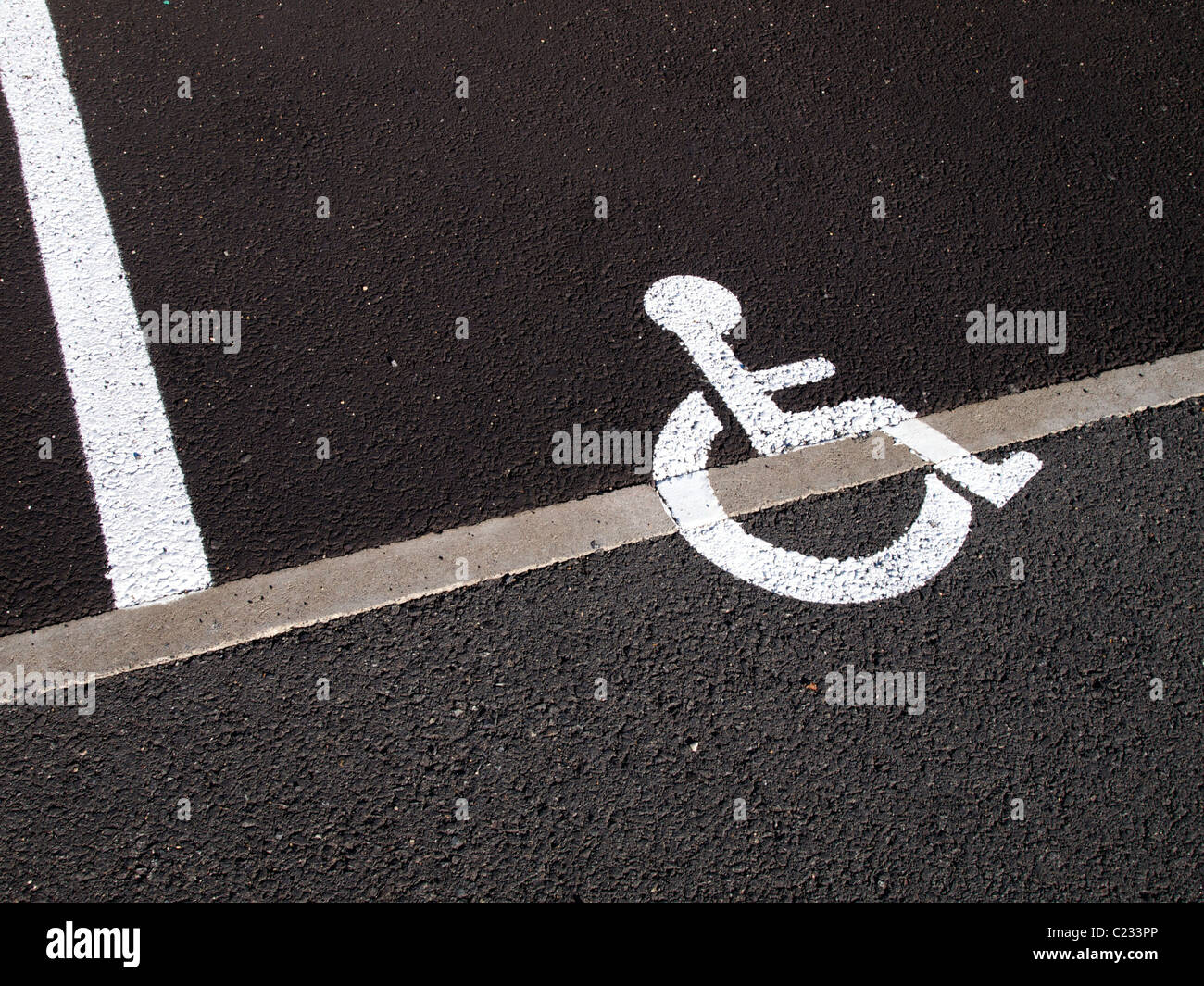 Parking space for disabled people - Stock Image