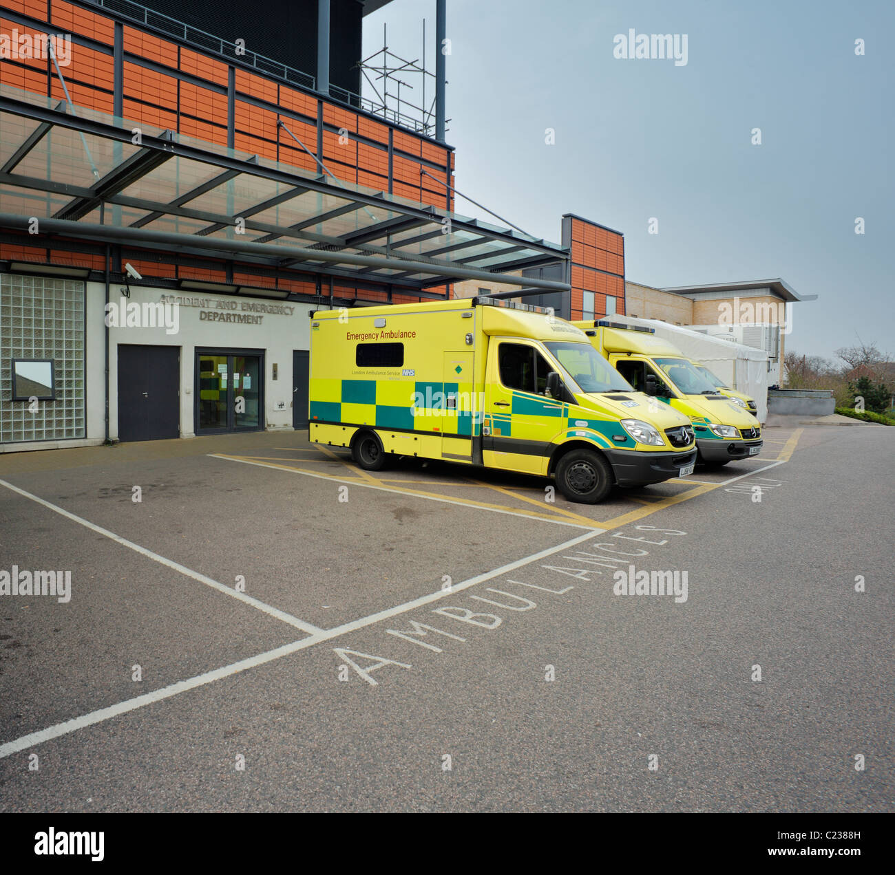 The Accident & Emergency Department, at the Princess Royal University Hospital Farnborough. - Stock Image
