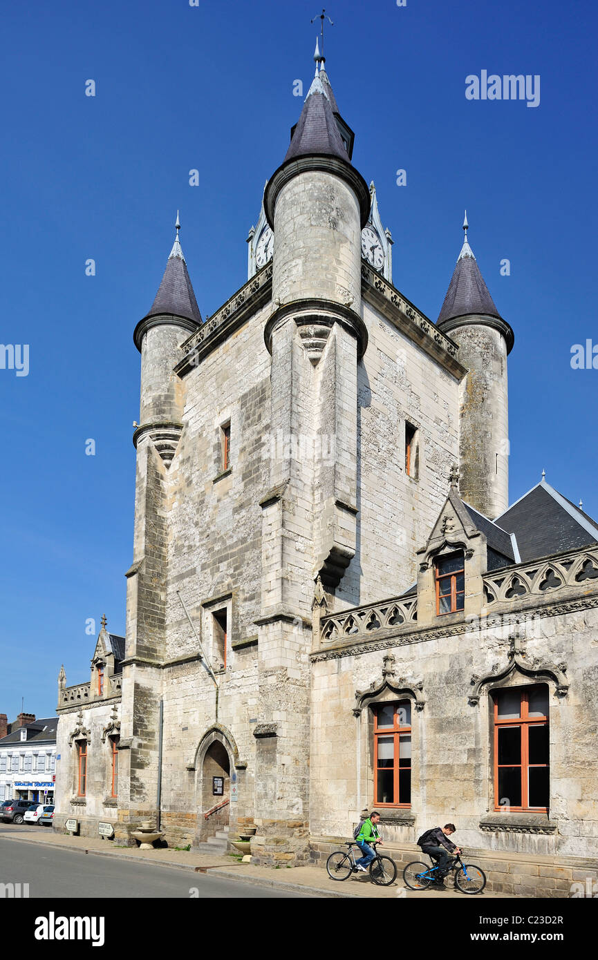 The belfry at Rue, Bay of the Somme, Picardy, France Stock Photo