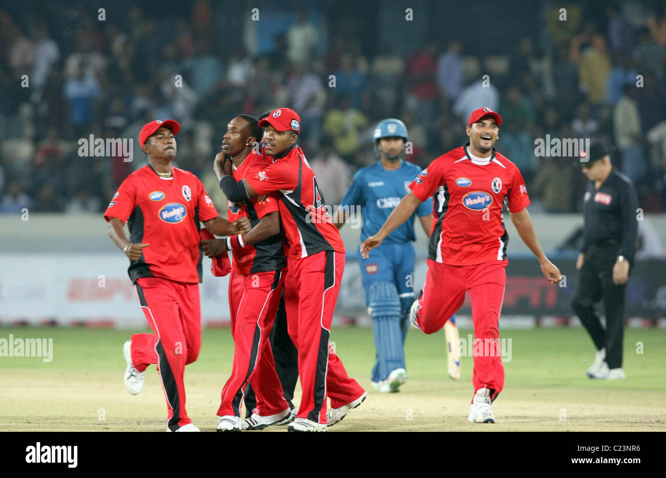 The Champions League Twenty20 Cricket Match Featuring The