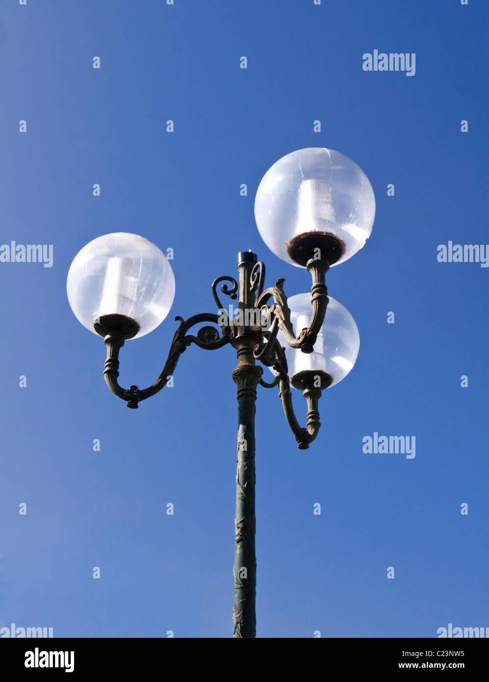 Decorative lamp post - Stock Image