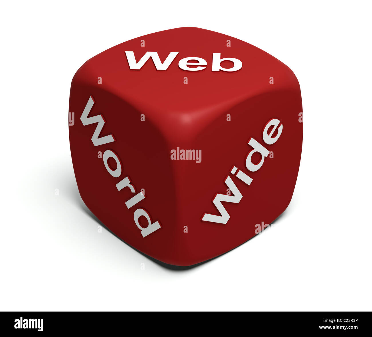 Red Dice with words World Wide Web on faces - Stock Image