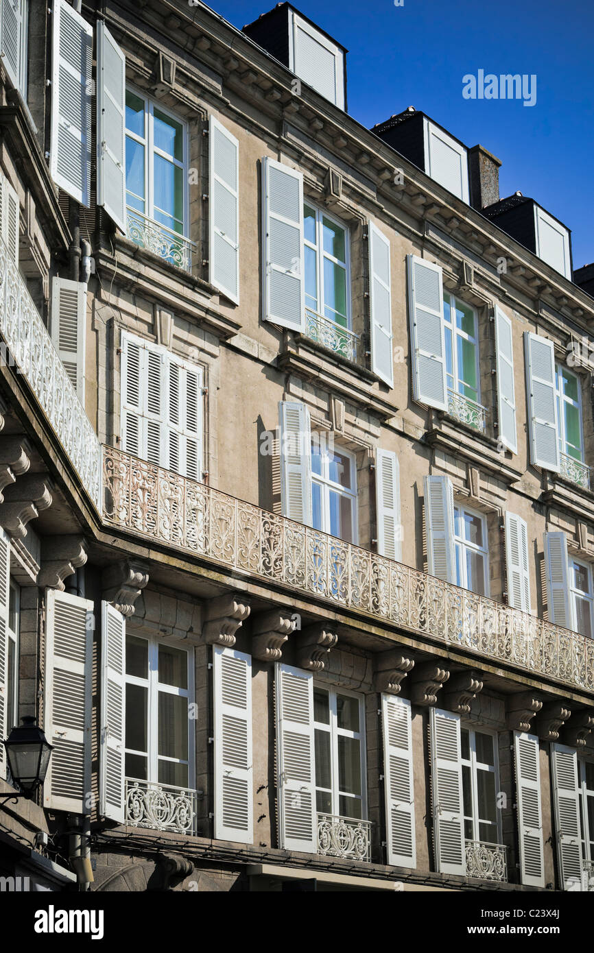 Apartments exterior with balconies France, Europe - Stock Image