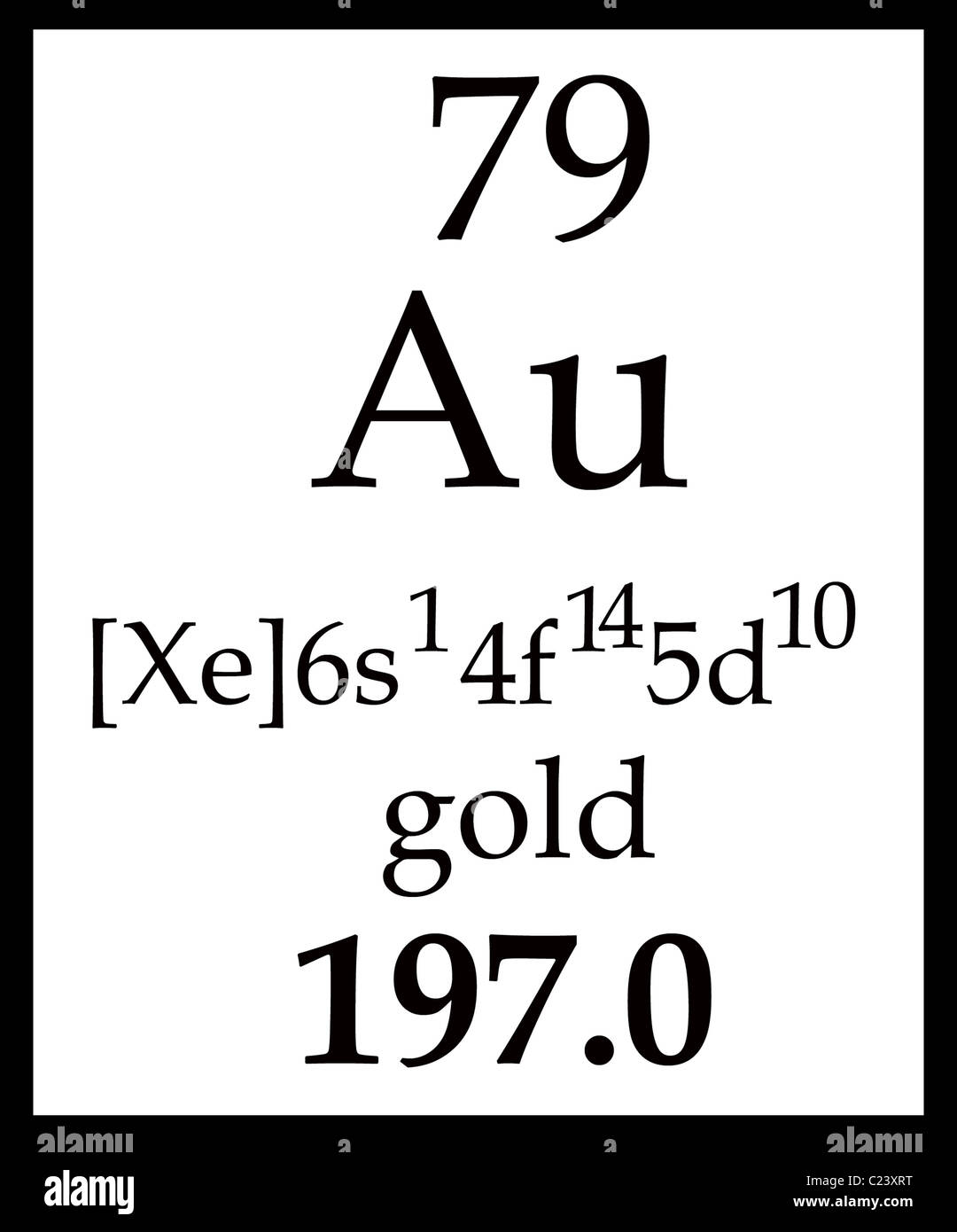 Golds box in the periodic table with symbol atomic number name golds box in the periodic table with symbol atomic number name and atomic mass urtaz Image collections