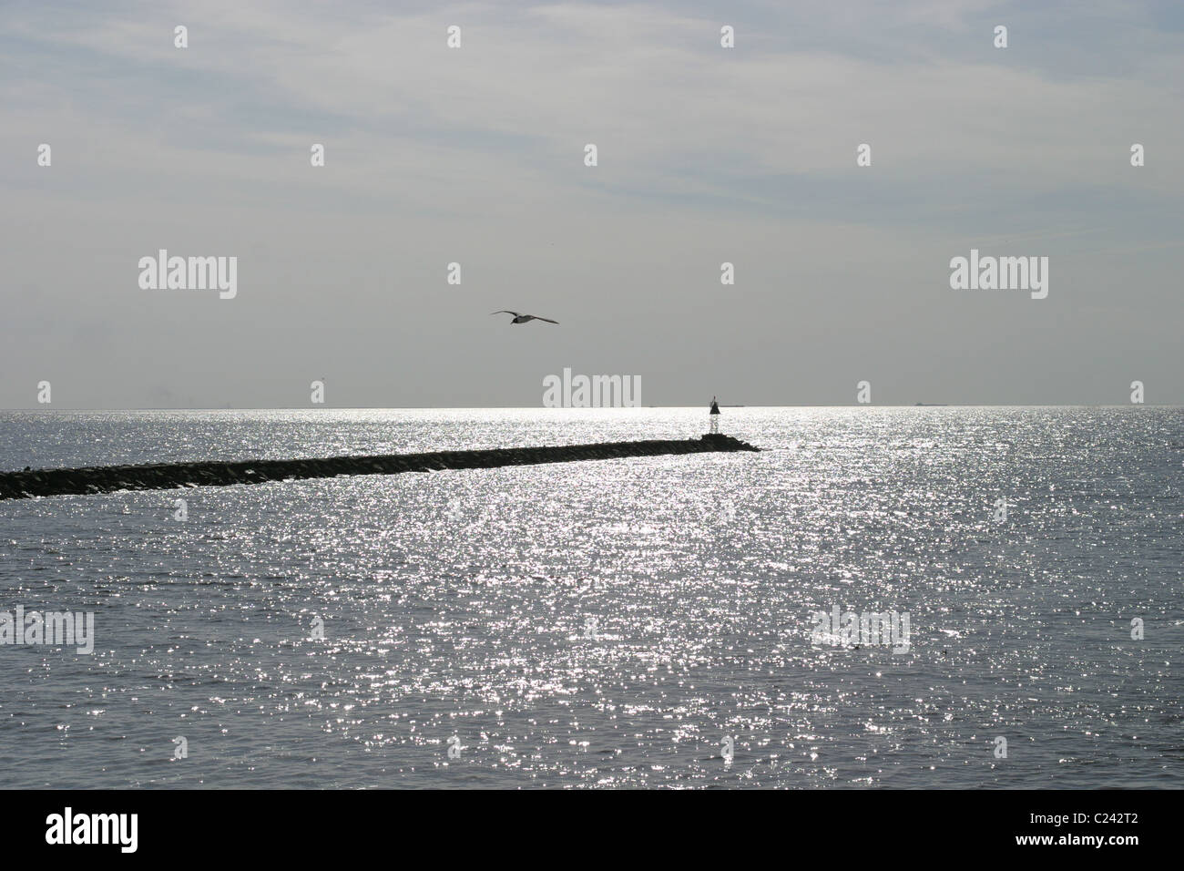 View from the ferry in New Jersey to Ocean City, Maryland. - Stock Image