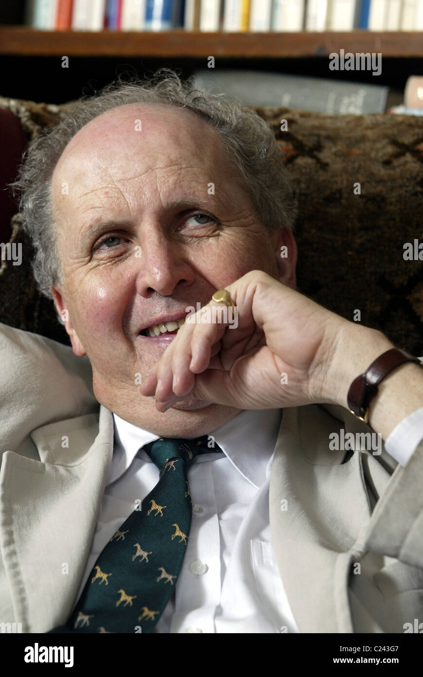 Scottish author Alexander McCall Smith at his home in Edinburgh. - Stock Image