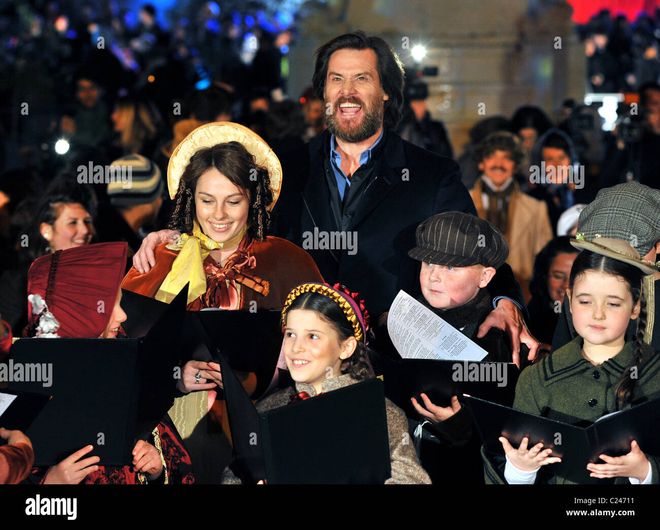 Jim Carrey \'A Christmas Carol\' - World premiere at Leicester Square ...