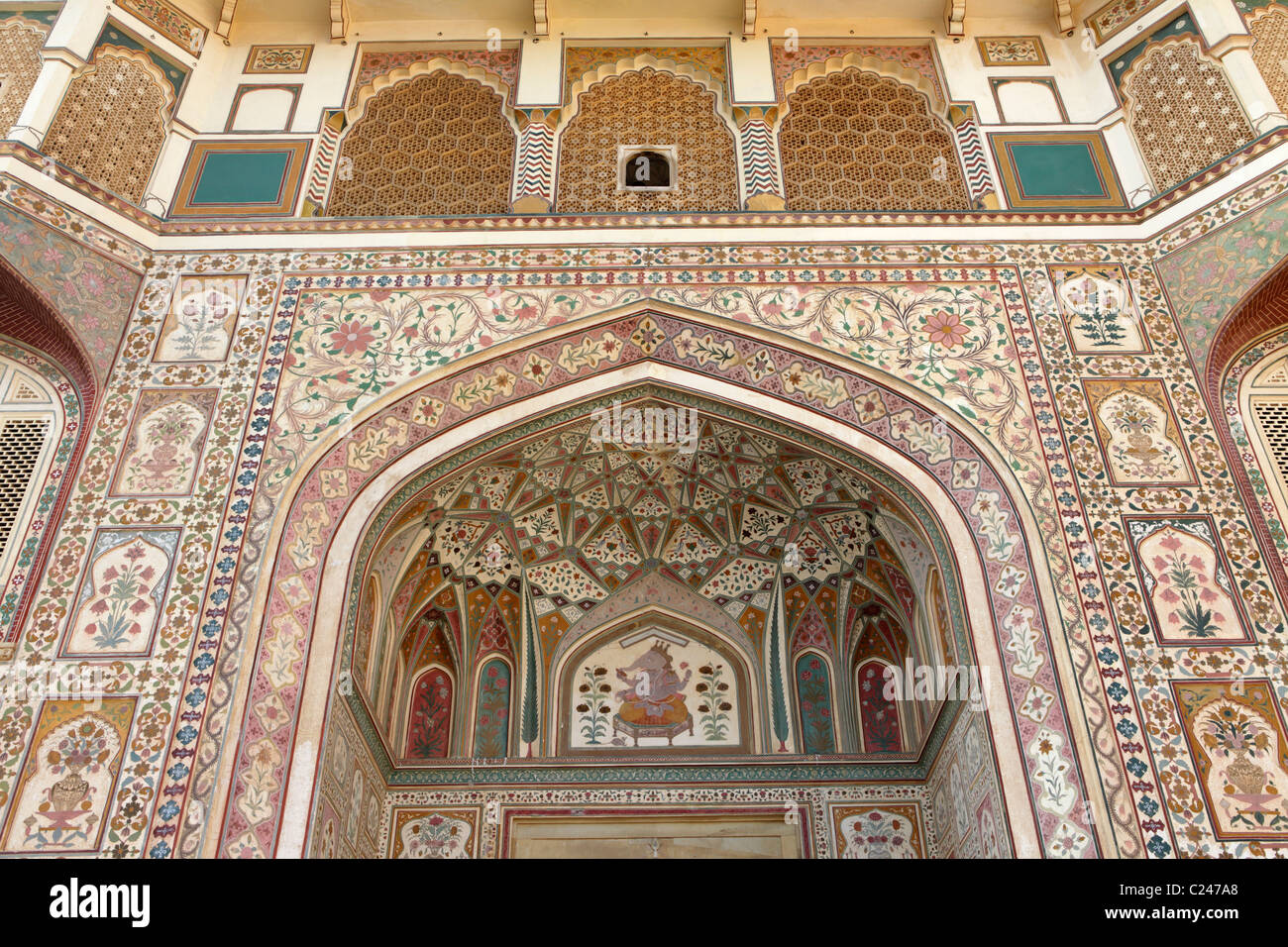Ganesh Pol of Amber Fort, Jaipur, India. - Stock Image