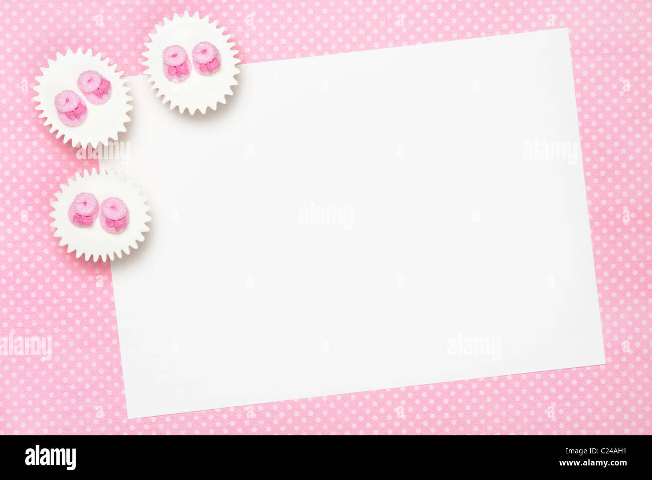 Blank baby shower invite - Stock Image
