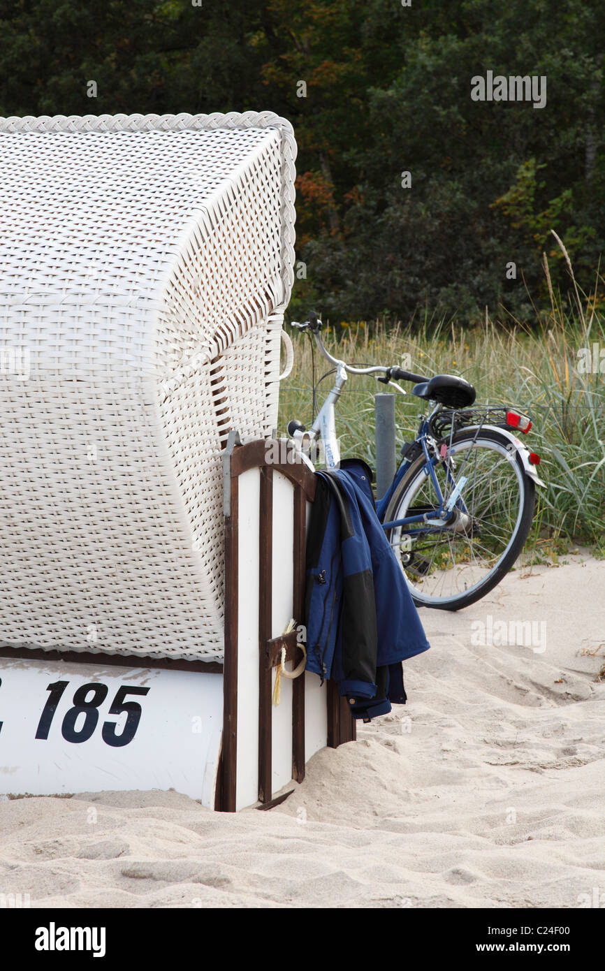 holiday at Baltic Sea in Thiessow, Germany - Stock Image