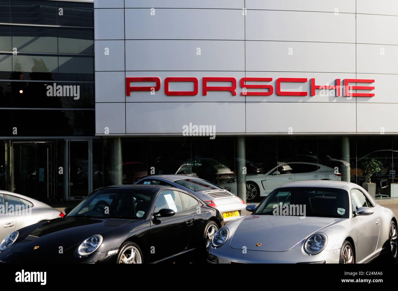 Lancaster Porsche Car Dealership, Harston, Cambridgeshire, England