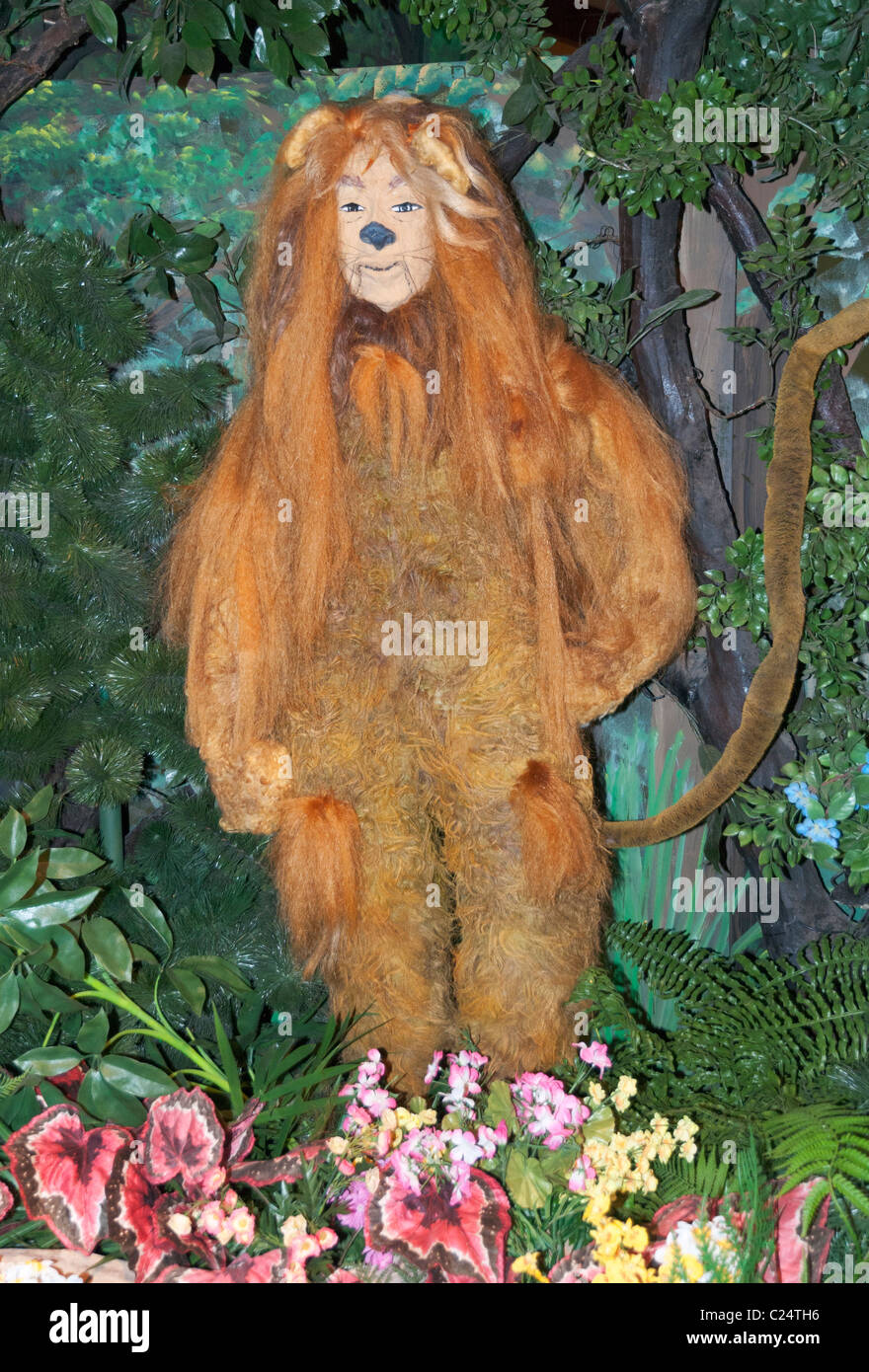 Kansas, Liberal, Land of Oz inspired by 1939 motion picture The Wizard of Oz, Cowardly Lion character - Stock Image
