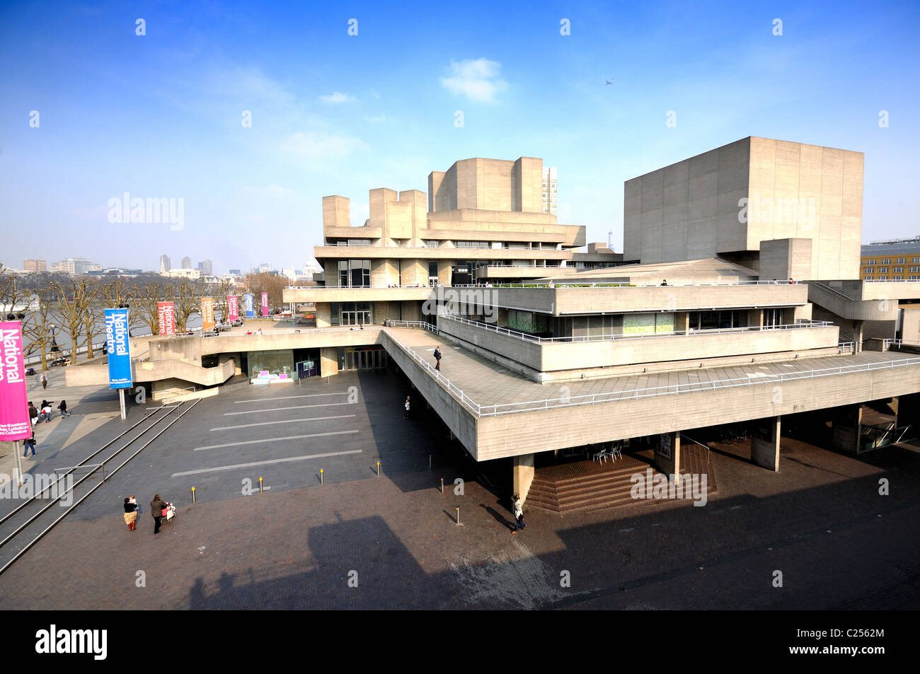 National Theater ,South Bank ,London - Stock Image
