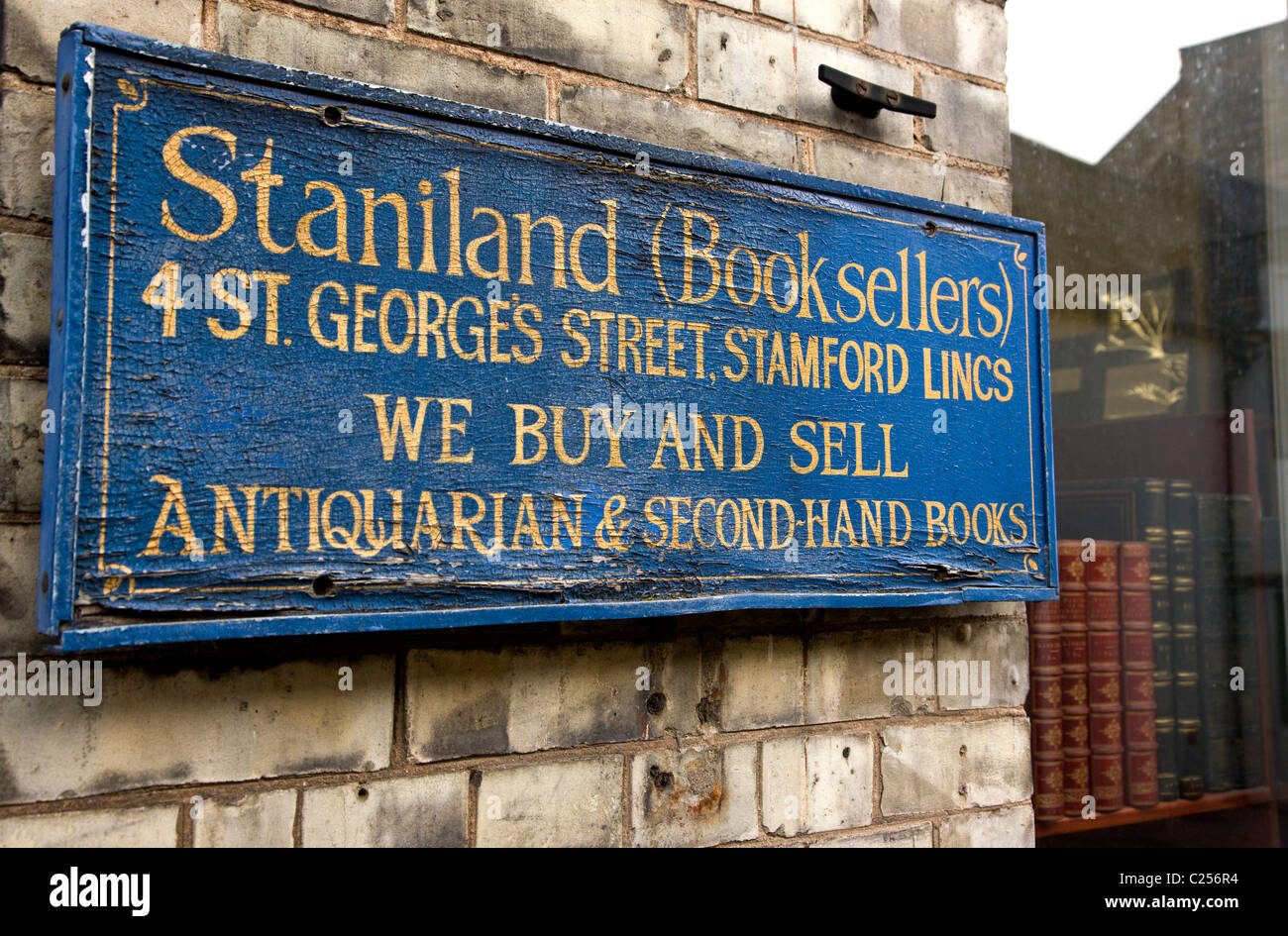 Antique bookseller - Stock Image