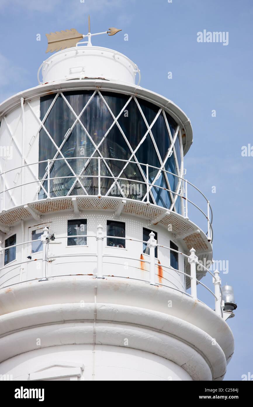 The lighthouse at Flamborough Head, Flamborough, East Yorkshire - Stock Image