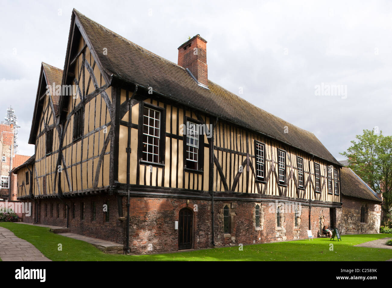 Exterior of the Merchant Adventurers House in York City, East Yorkshire - Stock Image