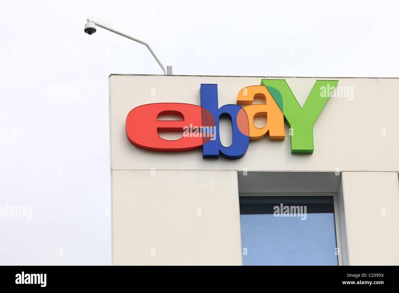 EBAY COMPANY SIGN & LOGO SILICON VALLEY TECH COMPANY 31 March 2011 - Stock Image