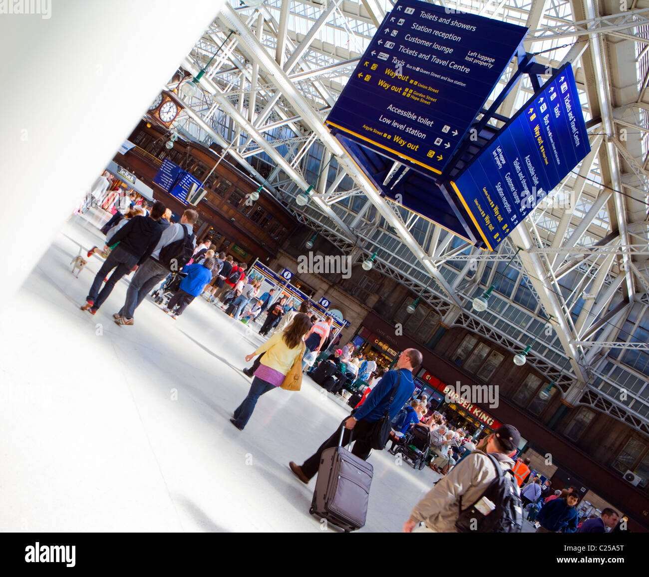 CENTRAL STATION IN GLASGOW SCOTLAND - Stock Image