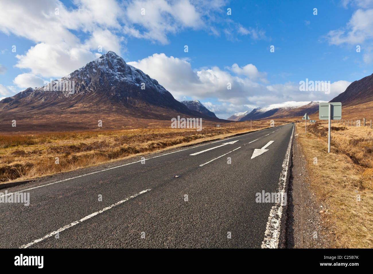 Buachaille Etive Mor Glen Etive and Glen Coe junction Rannoch moor top Scottish Highlands Scotland UK GB EU Europe - Stock Image