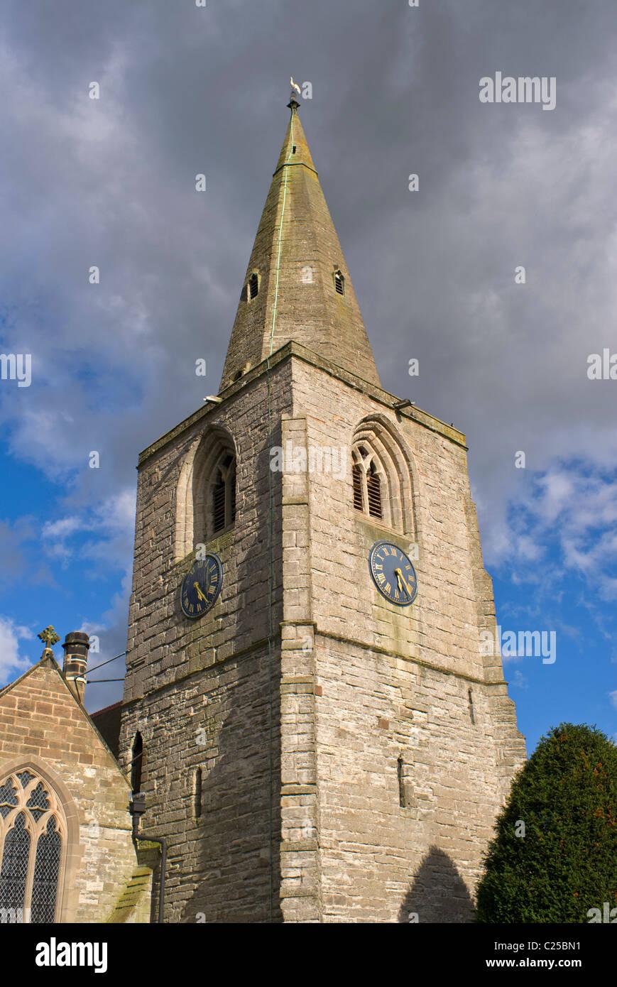 tanworth in arden church warwickshire - Stock Image