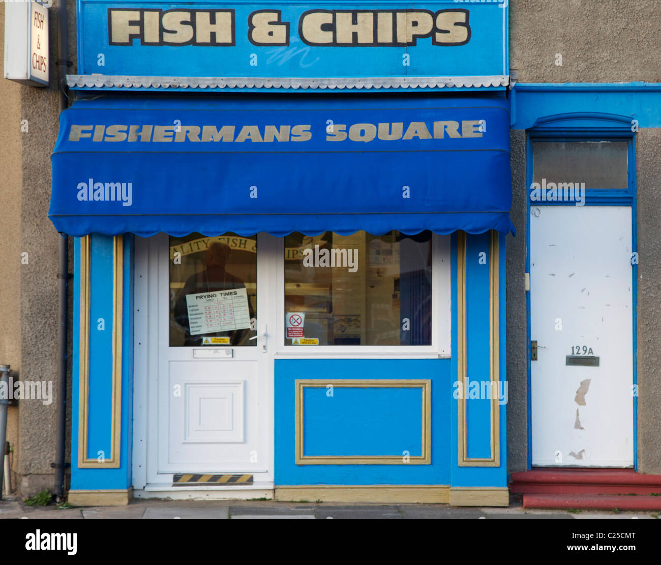 Fish and Chip shop at Fishermans Square, Redcar, Teeside Stock Photo