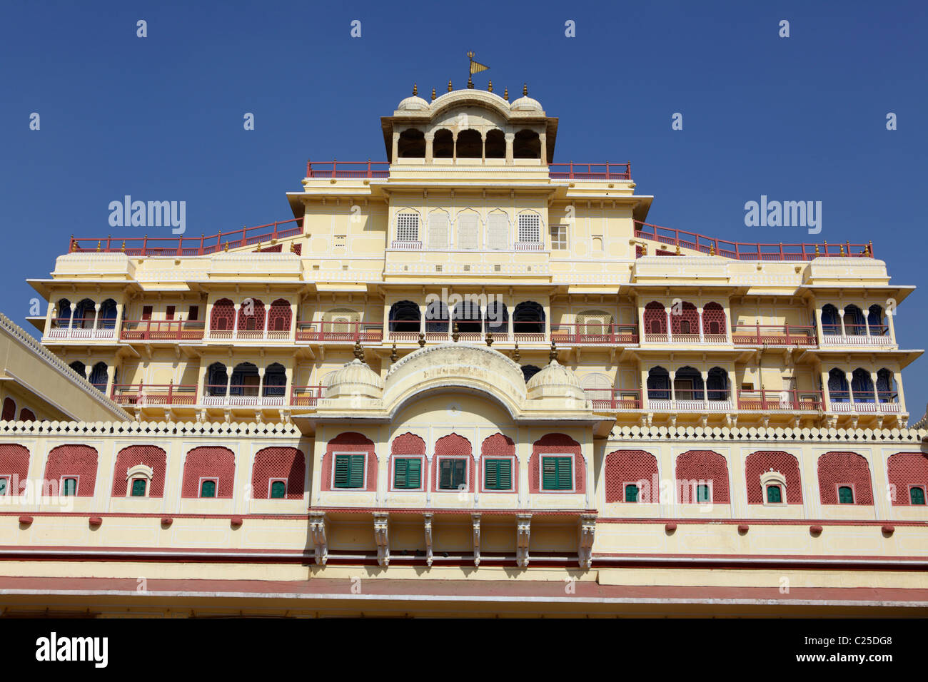 Chandra Mahal palace in Jaipur, India Stock Photo