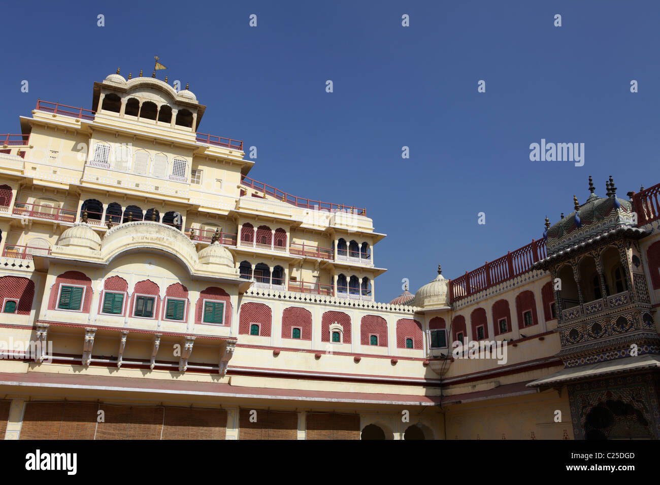 Chandra Mahal palace in Jaipur, India Stock Photo