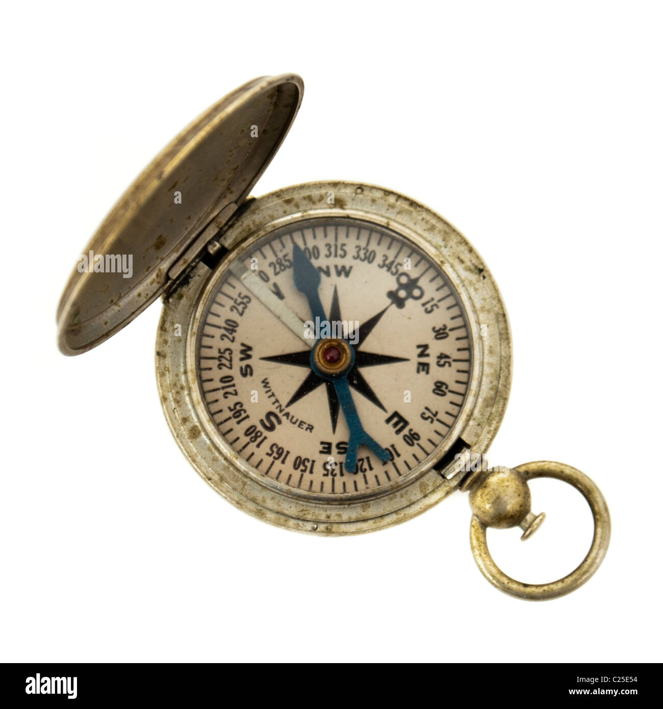 Vintage US Army Wittnauer compass - Stock Image