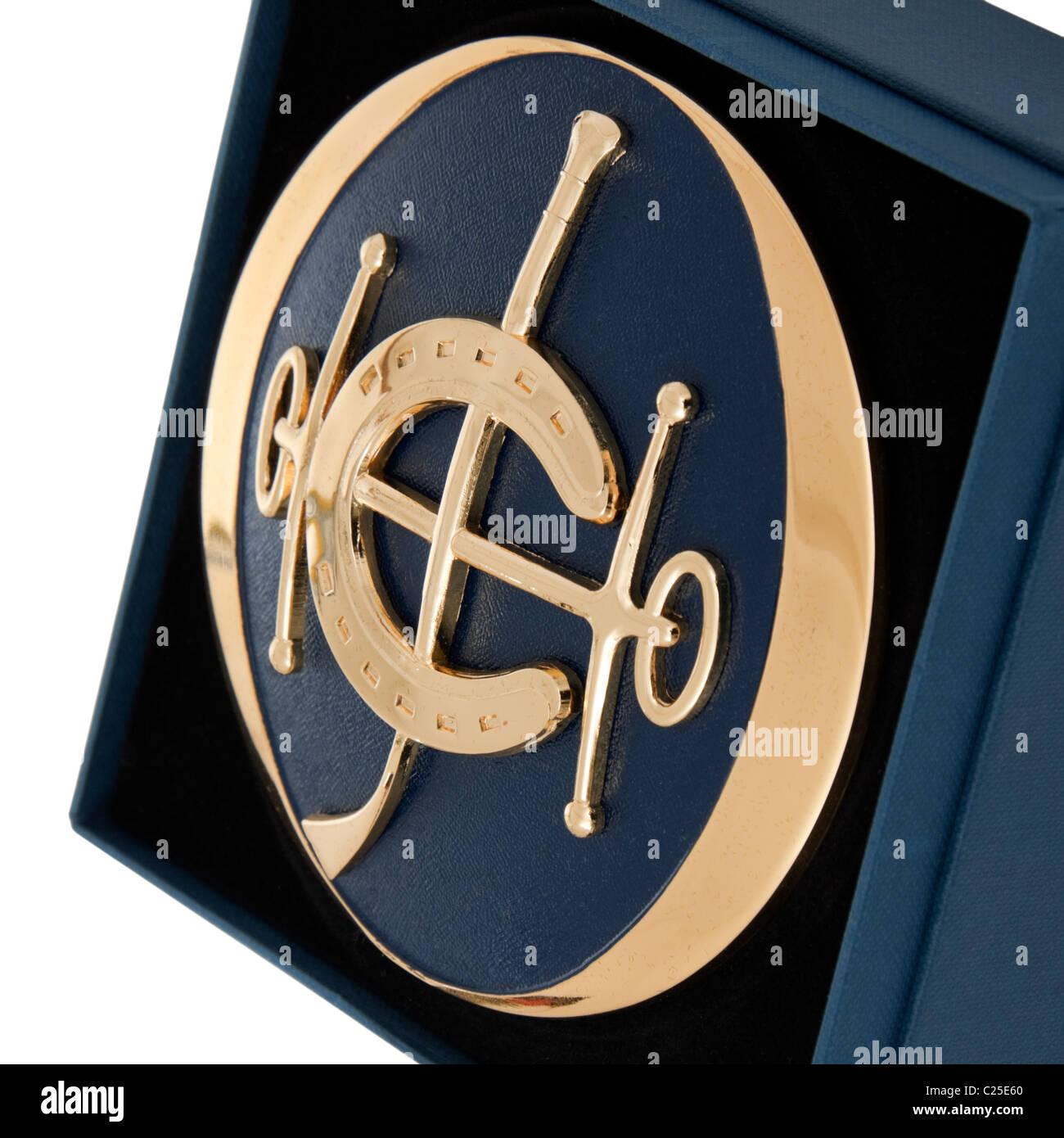 Exclusive Hong Kong Jockey Club car badge - Stock Image