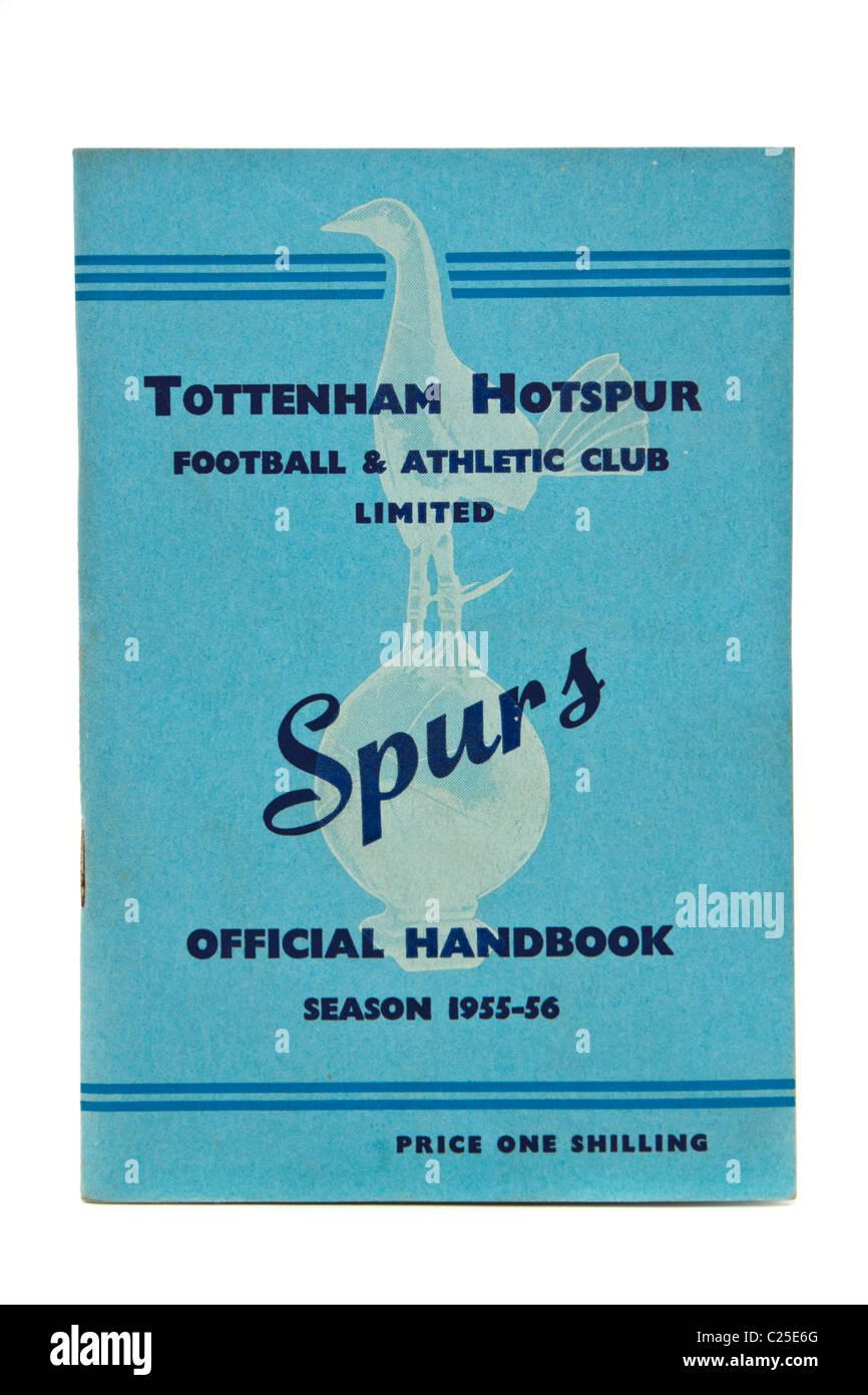 Vintage Tottenham Hotspur Football Club 1955-56 Season Official Handbook - Stock Image