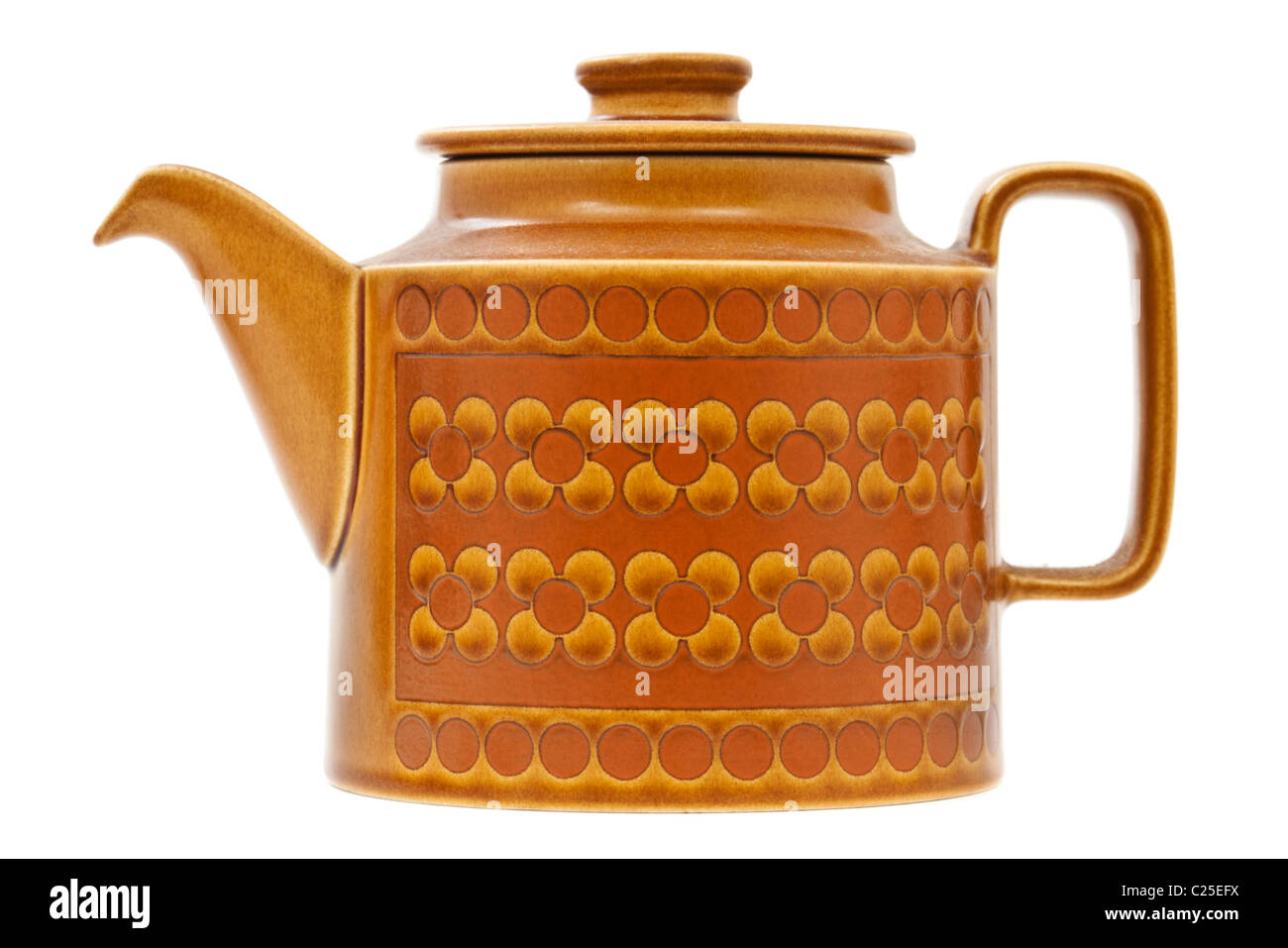 Retro 1970's Hornsea pottery 'Saffron' ceramic teapot - Stock Image