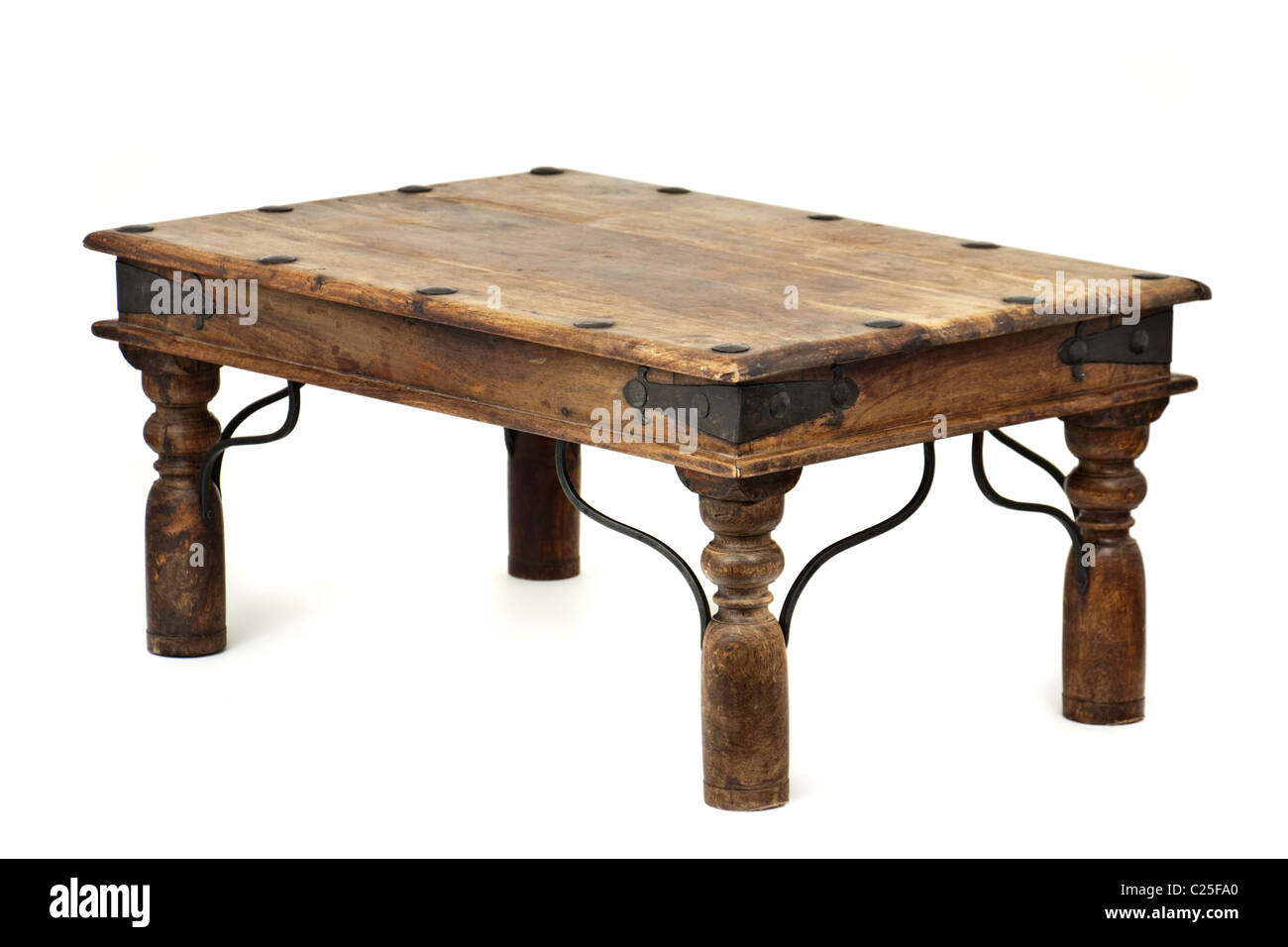 Spanish wooden coffee table - Stock Image