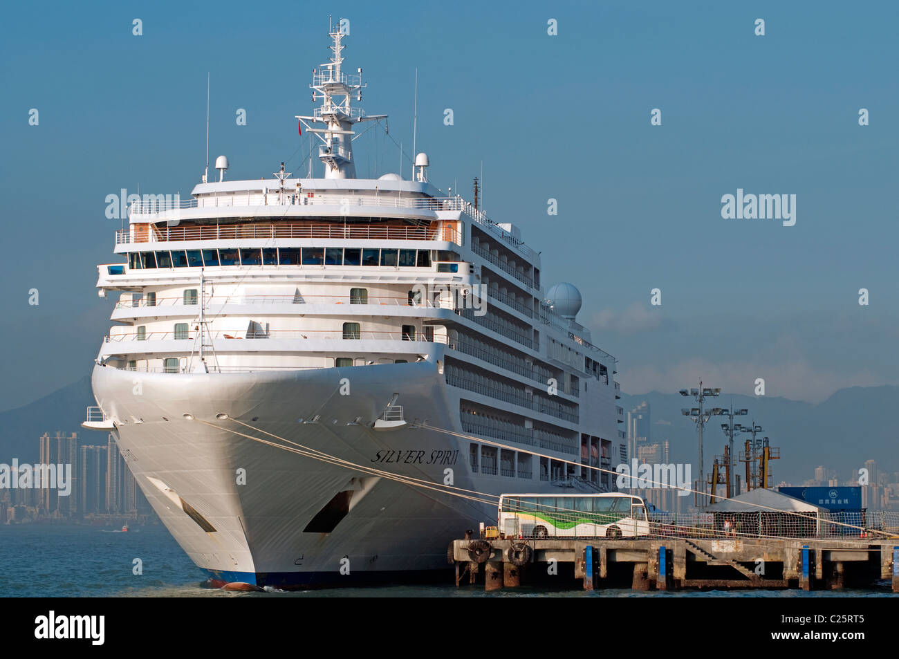 Cruise ships, Victoria harbor, Hong Kong, China. Stock Photo