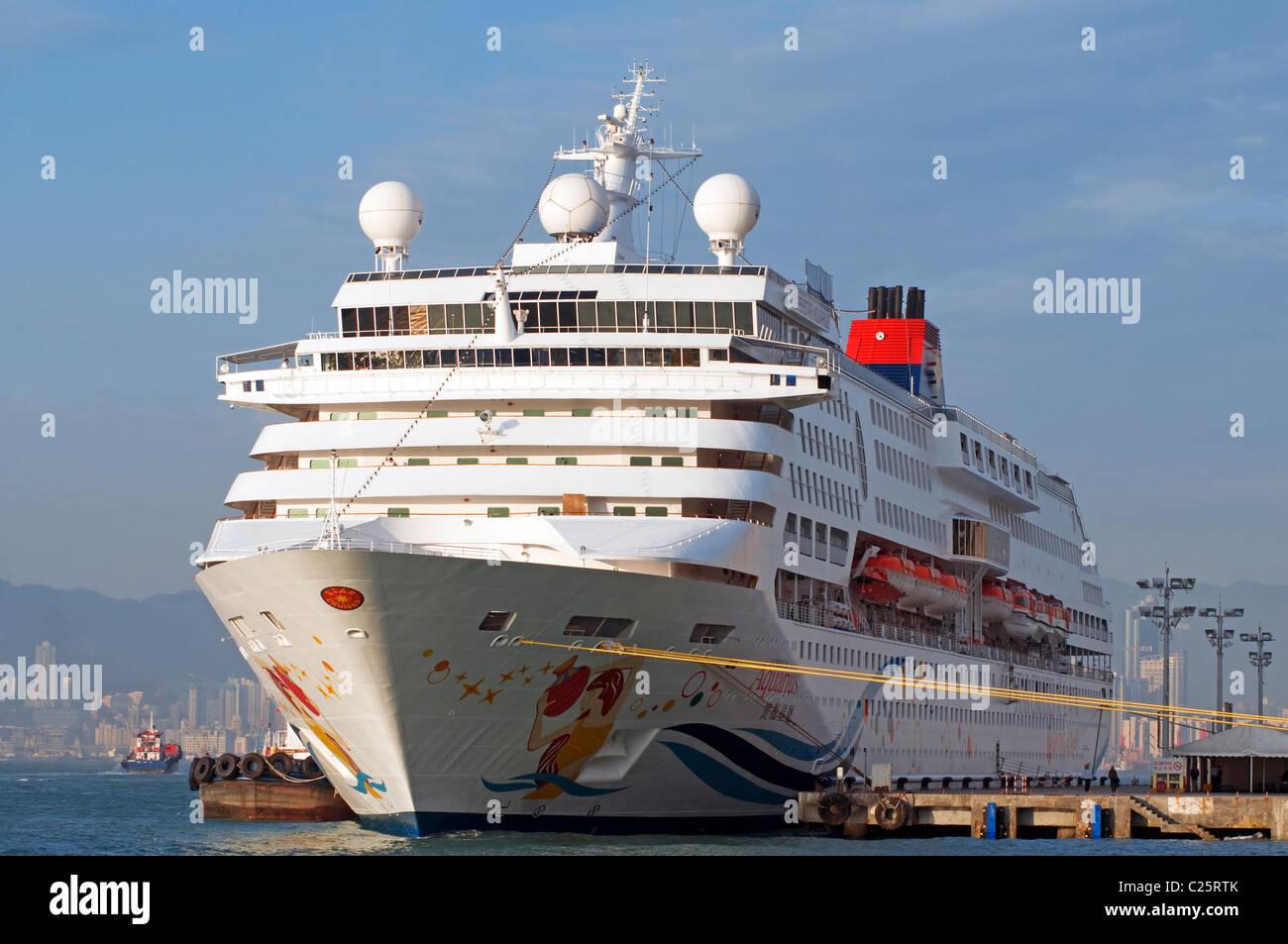 Cruise ships, Victoria harbor, Hong Kong, China. - Stock Image