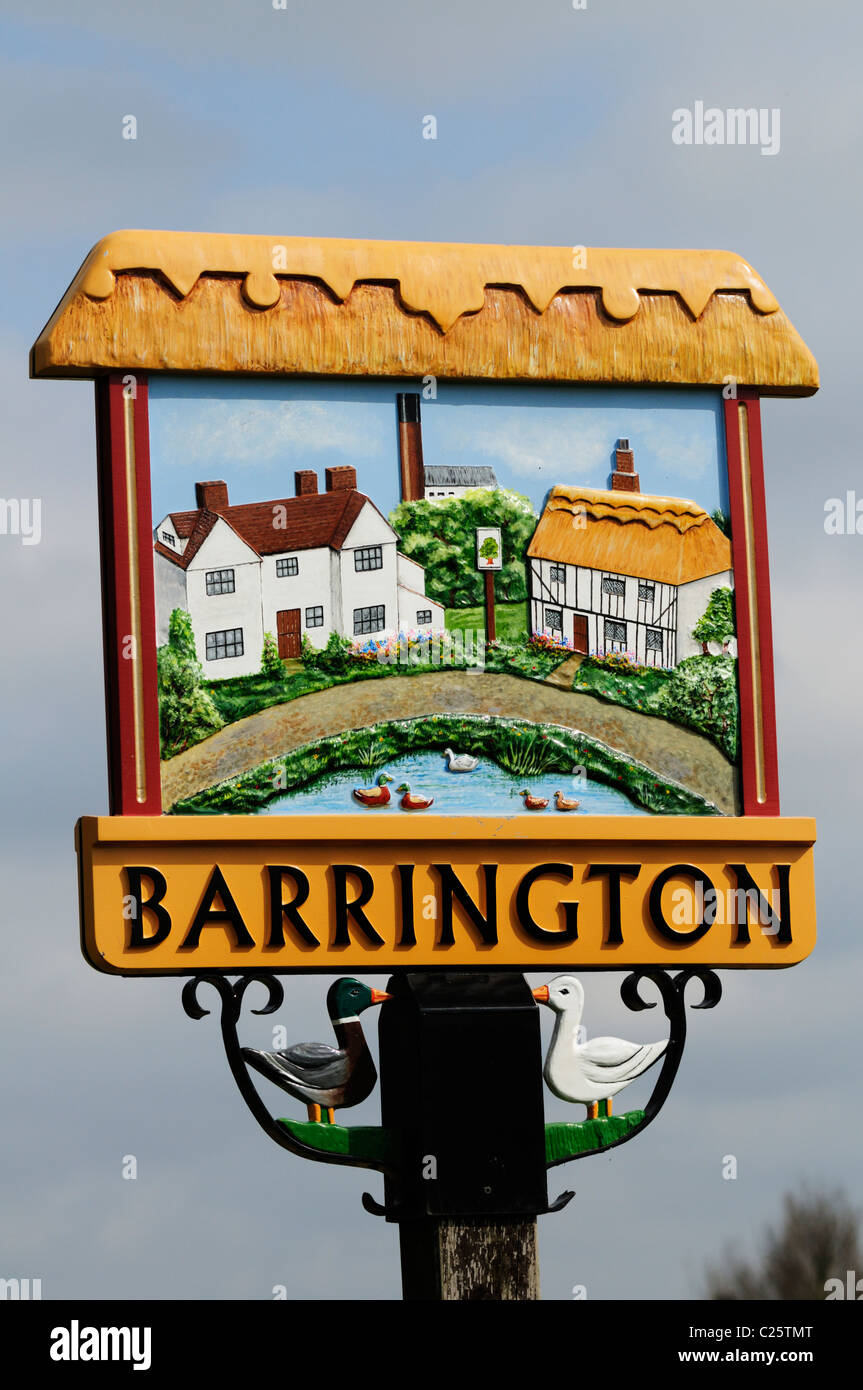 Barrington Village Sign, Cambridgeshire, England, UK - Stock Image