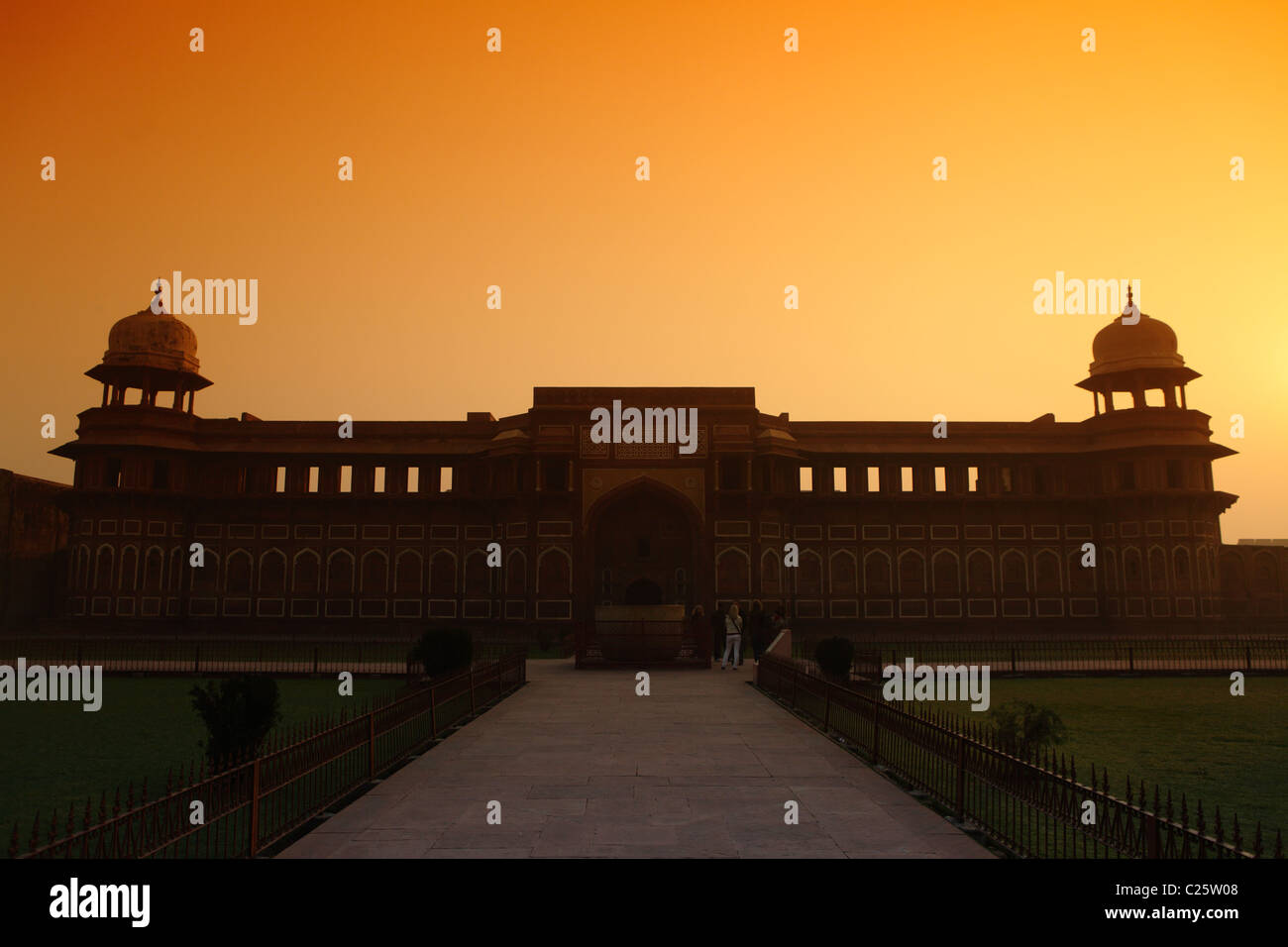 Jahangiri mahal in the Red Fort, Agra, India - Stock Image