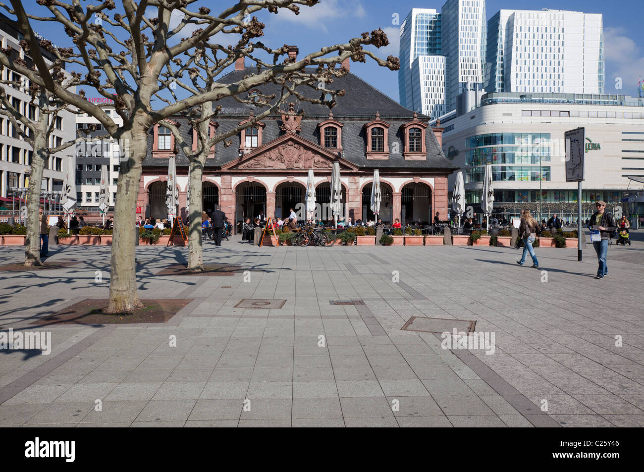 The Hauptwache is a central point of Frankfurt am Main and is one of the most famous plazas in the city. - Stock Image