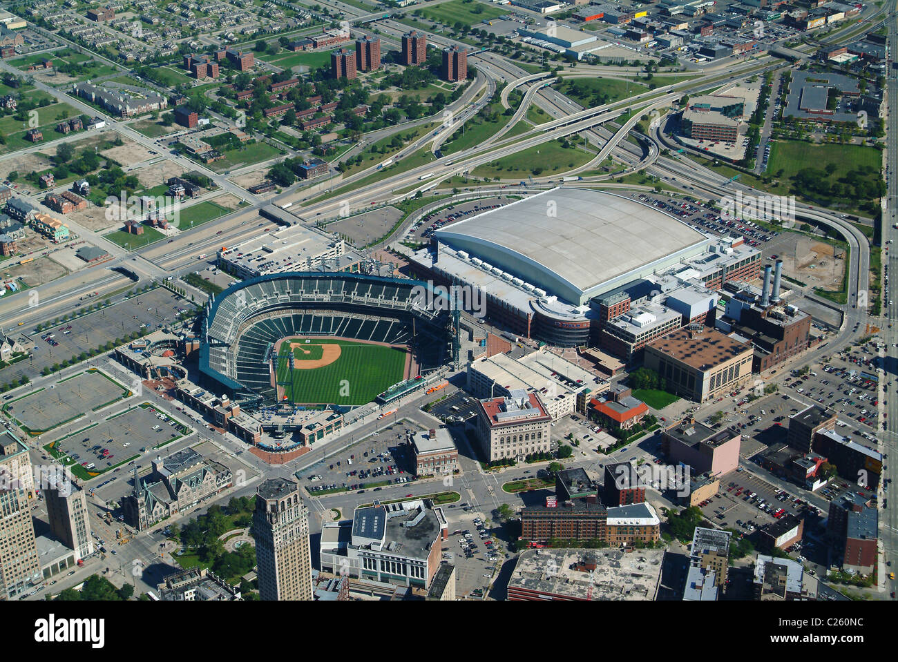 Aerial View Of Co America Park Amp Ford Field Stadium