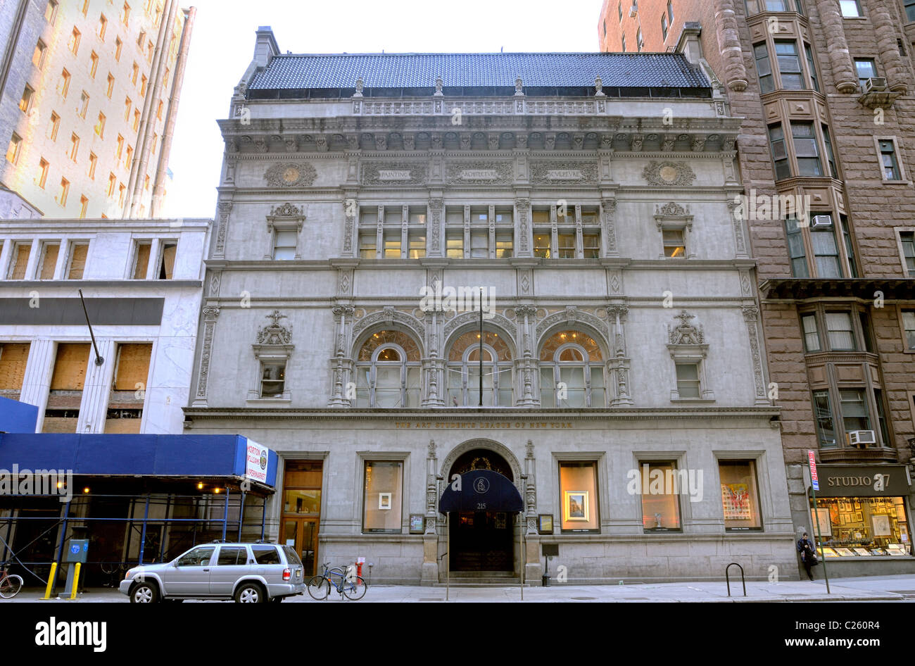The Art Students League of New York building on West 57th Street in New York City. - Stock Image