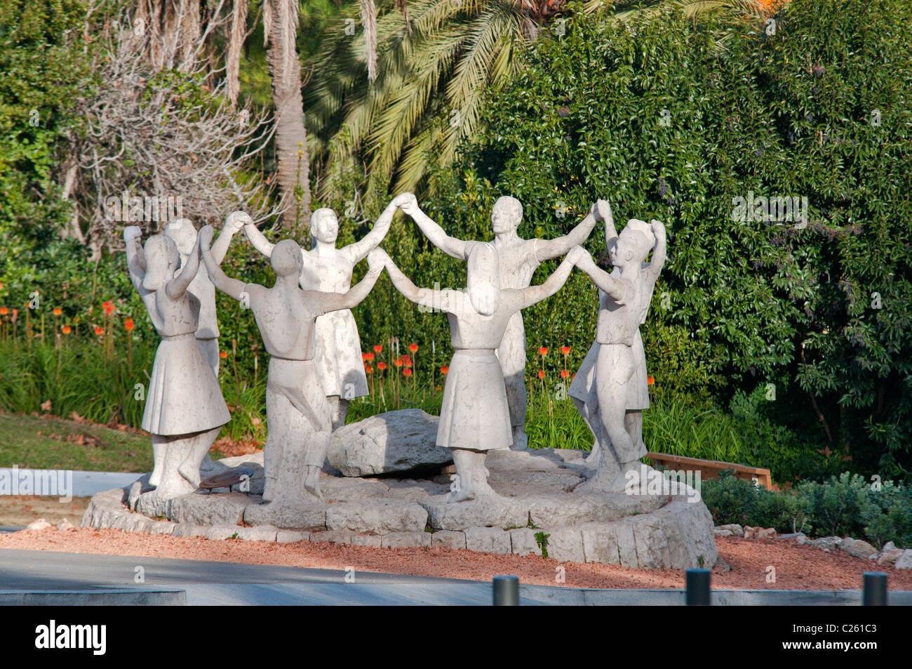 Sardana Statues Mont Juic ,Barcelona,Catalunya,Spain - Stock Image