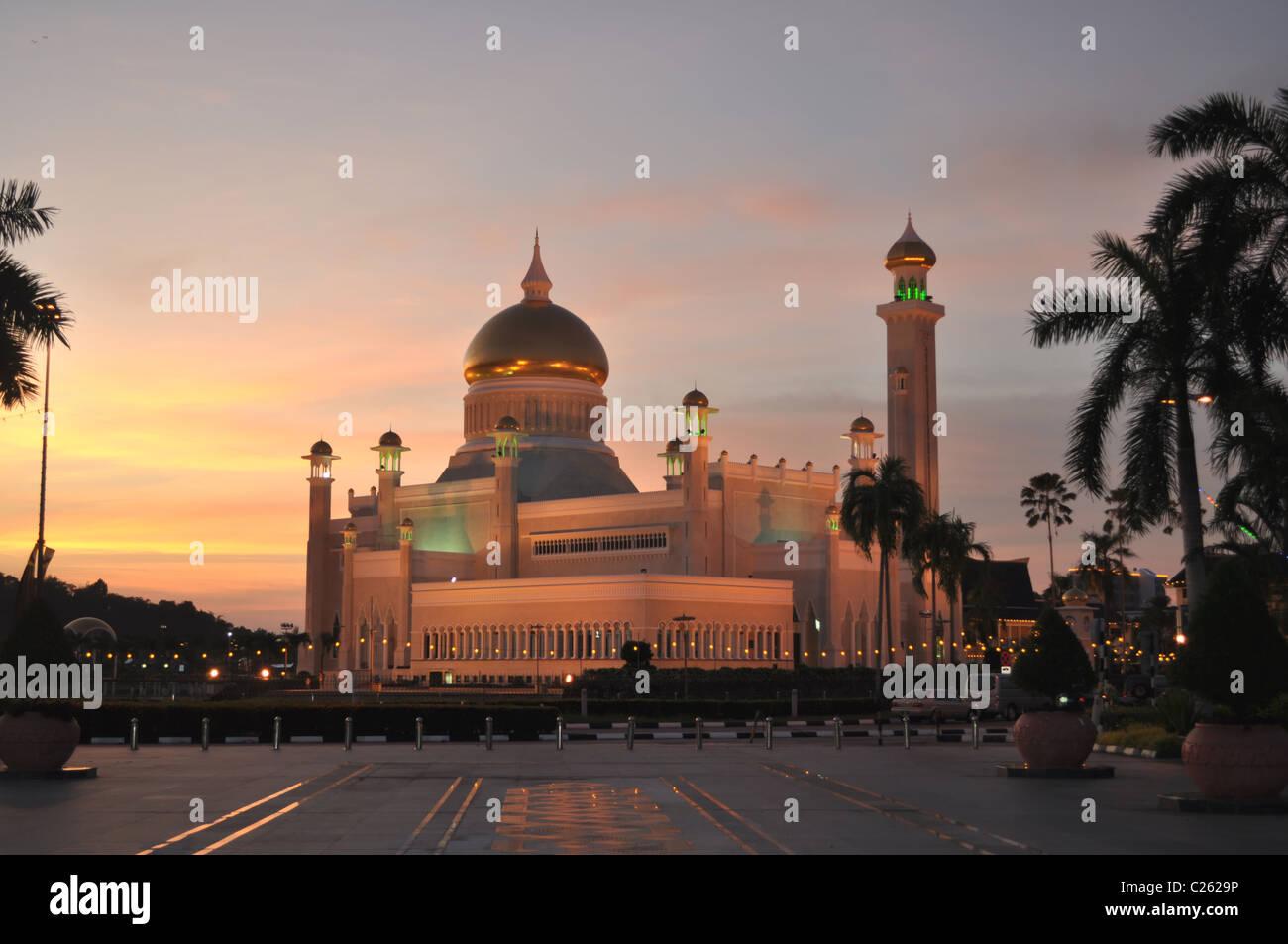 Omar Ali Mosque - Stock Image