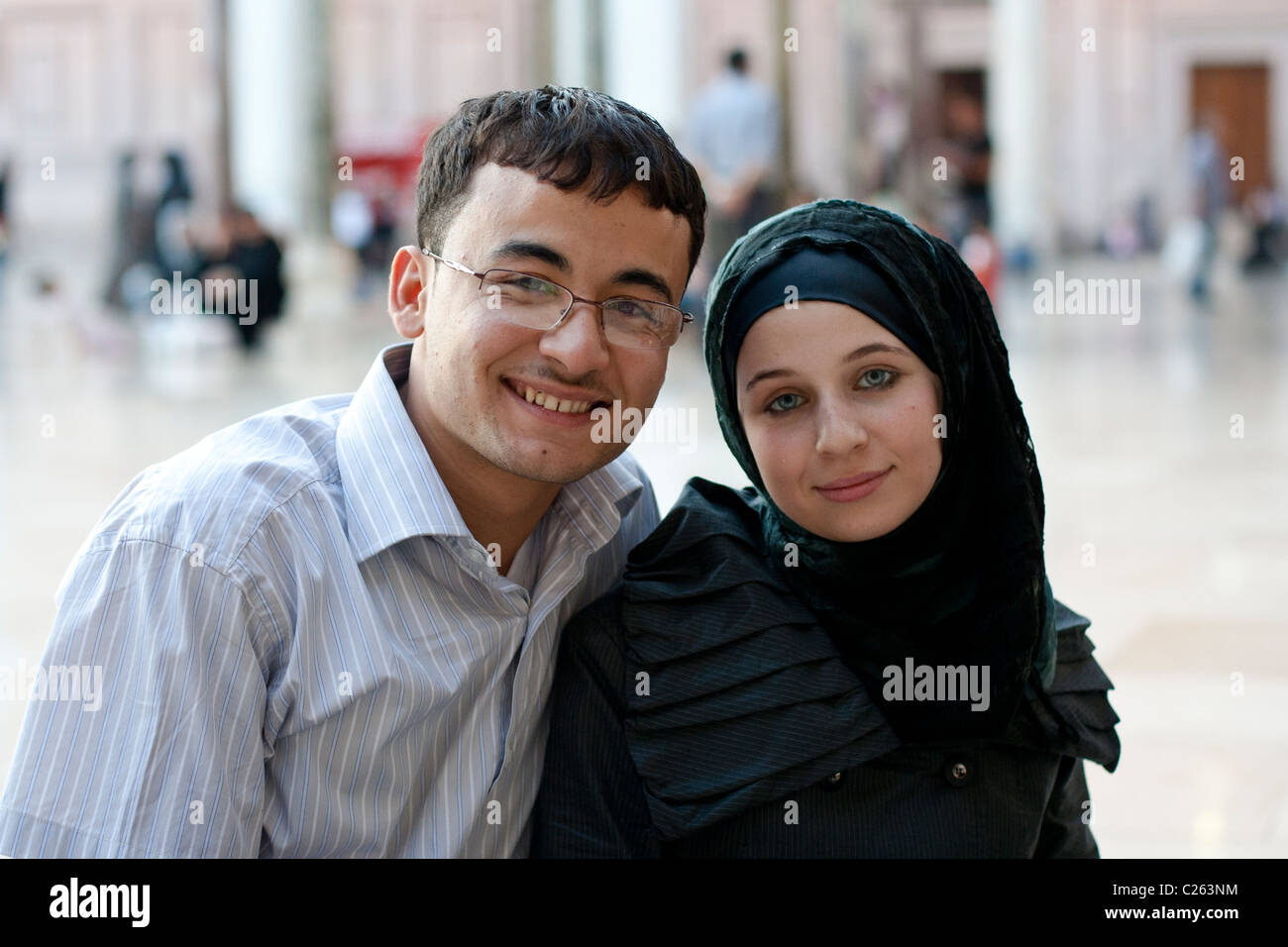 Arab mature couple