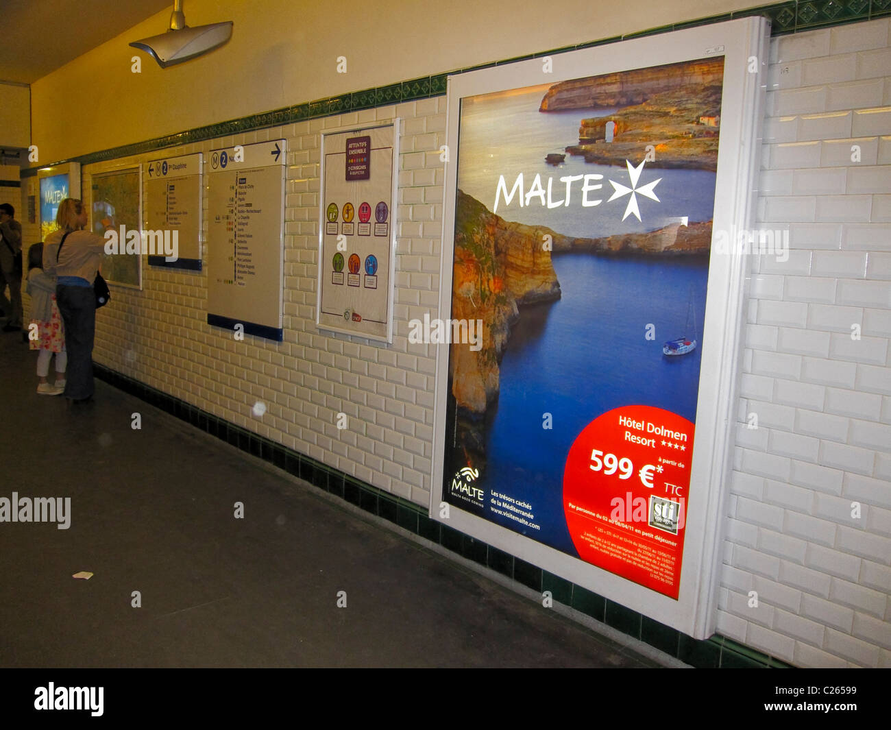 Paris, France, French Advertising Poster in Metro Subway Station ...