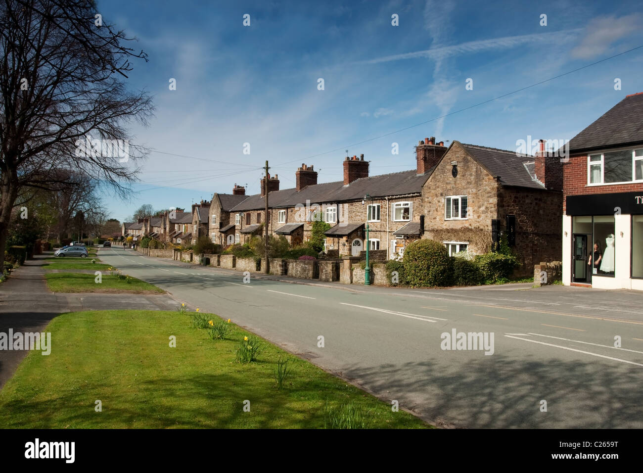 Old mining cottages in Poynton, Cheshire. - Stock Image