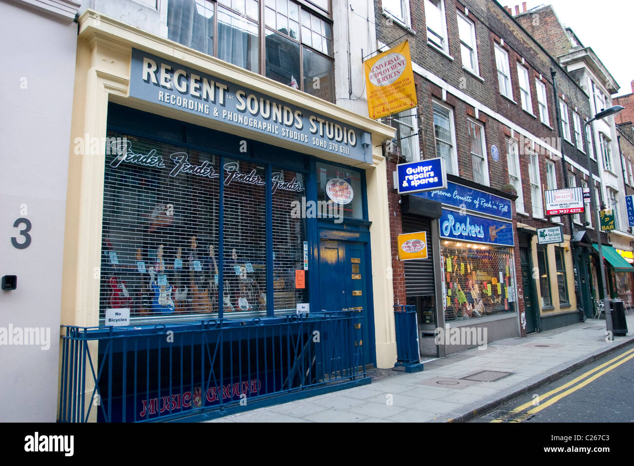 music shop on tin pan alley off tottenham court road. Black Bedroom Furniture Sets. Home Design Ideas