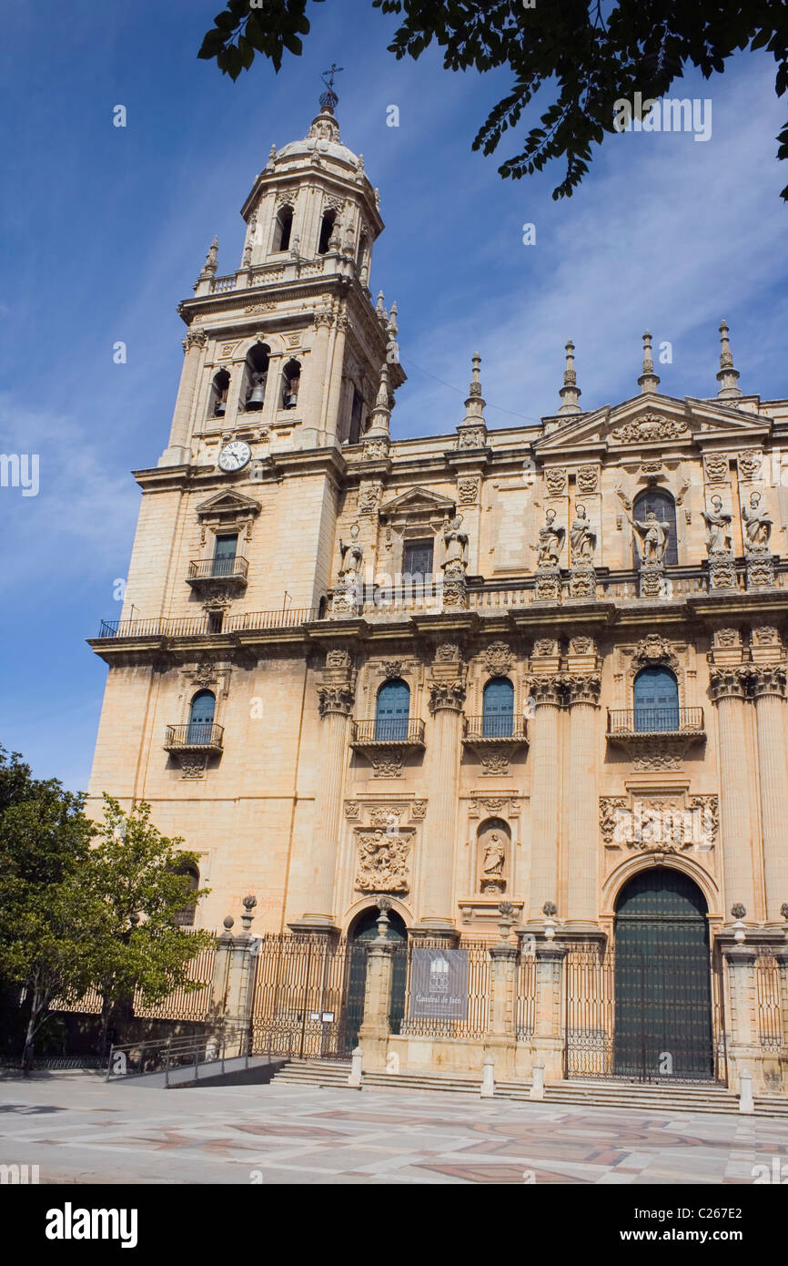 The Assumption of the Virgin Cathedral , Santa María Square, Jaén,Andalucia, Spain. - Stock Image