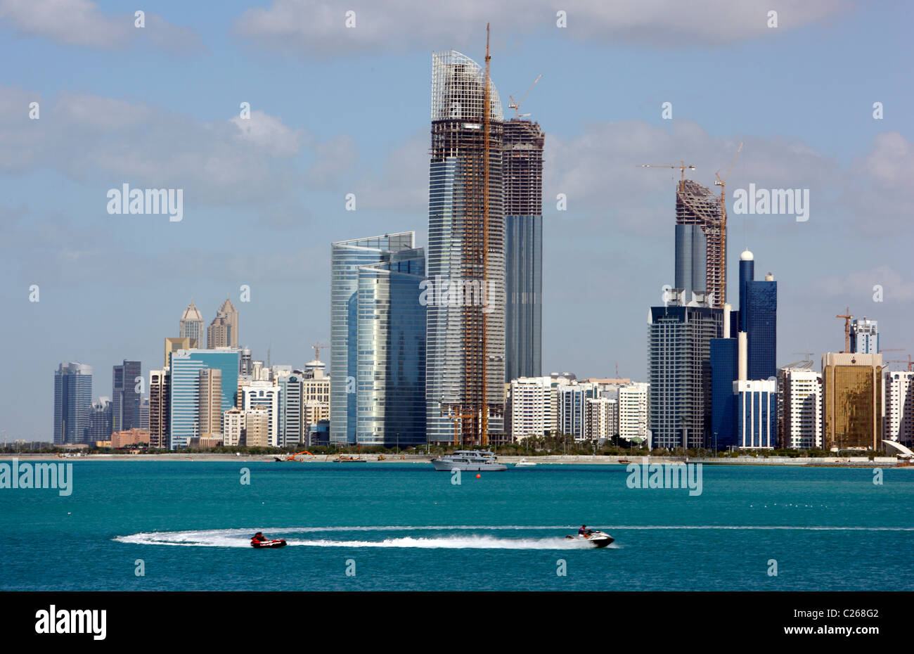 Skyline of Abu Dhabi, capital of United Arab Emirates. - Stock Image