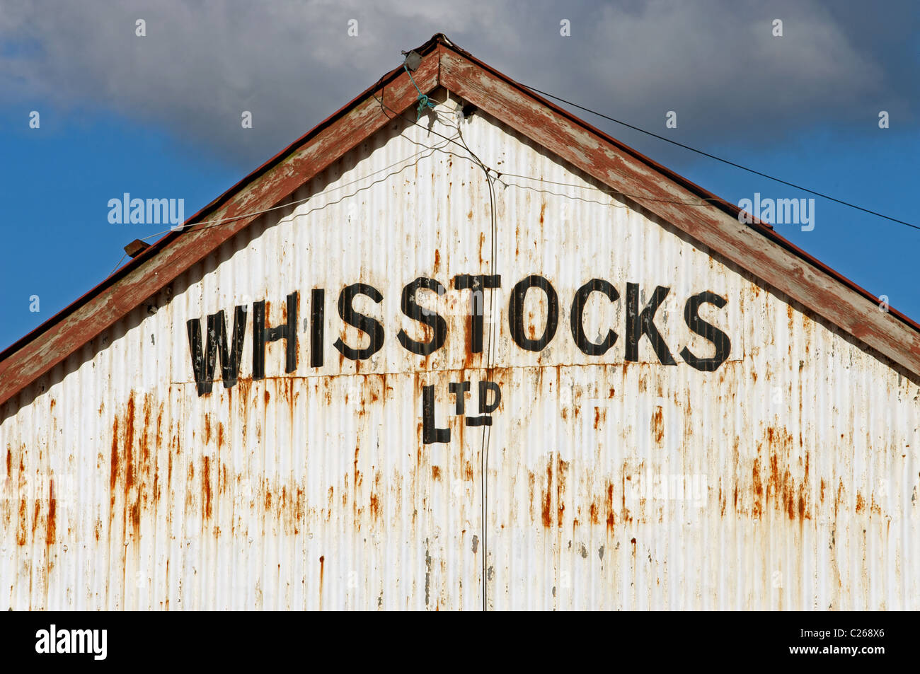 Whisstocks a family run boat building company no longer in business, Woodbridge, Suffolk, UK. - Stock Image